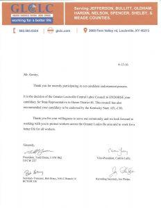Al Gentry - GLCLC Endorsement