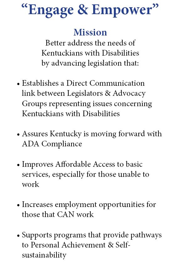Rep. Al Gentry leads a bipartisan group of legislators on behalf of Kentuckians with disabilities
