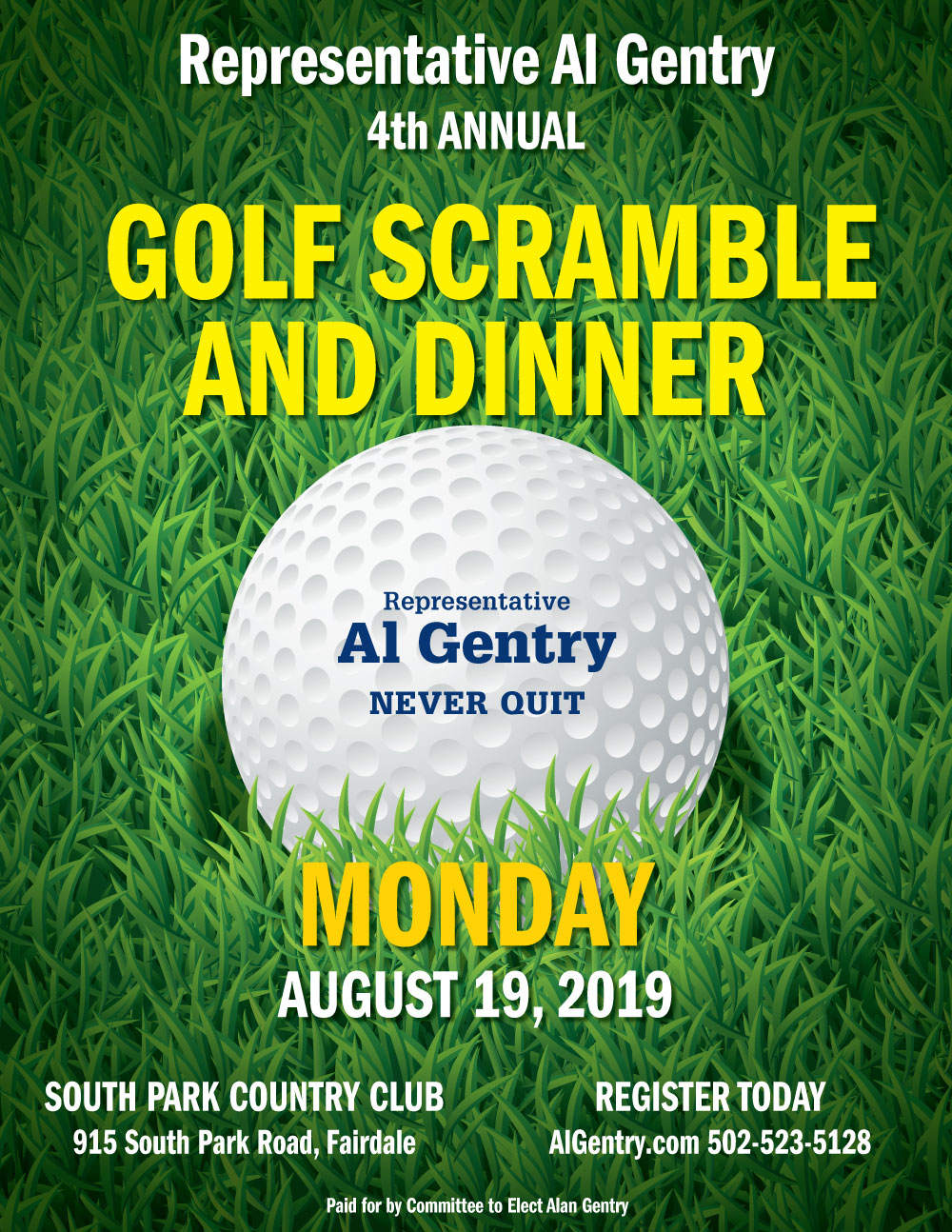 4th Annual Golf Scramble